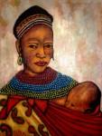 Obras de arte: America : Colombia : Antioquia : Medellín : Maternidad africana