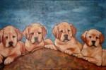 Obras de arte: America : Colombia : Antioquia : Medell�n : Cachorros de labrador