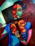 Obras de arte: America : Colombia : Antioquia : Medellín : Violinista