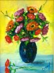 Obras de arte: America : Brasil : Sao_Paulo : Sao_Paulo_ciudad : Flores com fundo amarelo