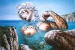 Obras de arte: America : Cuba : Ciudad_de_La_Habana : Playa : El Vuelo tras la Aurora (detalle)