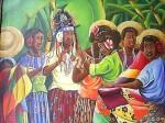 Obras de arte: America : Panamá : Colon-Panama : Barrio_Sur : Las Cantoras