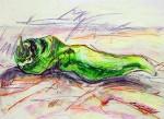 Obras de arte: Europa : España : Catalunya_Barcelona : Badalona : pimiento verde