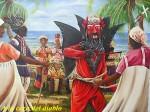 Obras de arte: America : Panamá : Colon-Panama : Barrio_Sur : A la caza del diablo.