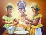 Obras de arte: America : Panamá : Colon-Panama : Barrio_Sur : Merced y las Mojongos.