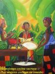 Obras de arte: America : Panamá : Colon-Panama : Barrio_Sur : Mojongo cocinan