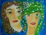 Obras de arte: Europa : España : Valencia : Alicante : Dos muchachas