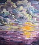 Obras de arte: America : Argentina : Buenos_Aires : Capital_Federal : sol en el mar