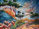Obras de arte: America : Argentina : Buenos_Aires : Capital_Federal : paisaje con ritmos
