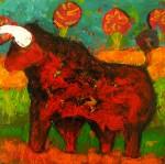 Obras de arte: America : Chile : Bio-Bio : Concepción : Toro en primavera