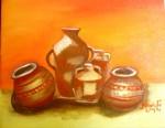 Obras de arte: America : Panam� : Panama-region : BellaVista : tinajas