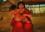 Obras de arte: America : Panamá : Veraguas : Santiago_de_Veraguas : MADRE INDIGENA