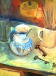 Obras de arte: Europa : España : Extrmadura_Cáceres : plasencia : Una jarra con dos llaves