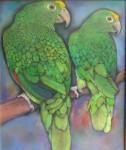 Obras de arte: America : Panamá : Chiriqui : Volcán : yellow heads