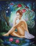 Obras de arte: America : Colombia : Cundinamarca : BOGOTA_D-C- : Hada bañándose