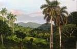 Obras de arte: America : Cuba : Ciudad_de_La_Habana : El_Vedado : CAYENDO LA TARDE