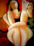 Obras de arte: Europa : España : Catalunya_Barcelona : BCN : mujer sentada y hombre que la mira