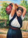Obras de arte: America : México : Michoacan_de_Ocampo : Morelia : NIÑA CON CANTARO
