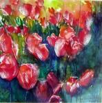 Obras de arte: Europa : España : Madrid : Valdemorillo : tulipanes