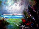 Obras de arte: Europa : España : Extrmadura_Cáceres : plasencia : Lluvia en el estanque