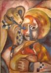 Obras de arte: America : Argentina : Buenos_Aires : Ciudad_de_Buenos_Aires : mujer con mascotas