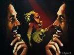 Obras de arte: America : Argentina : Buenos_Aires : Capital_Federal : Bob Marley entre sueños