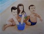 Obras de arte: Europa : España : Catalunya_Barcelona : Barcelona : niños en la playa