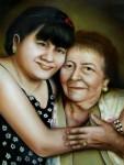 Obras de arte: America : México : Coahuila_de_Zaragoza : Torreón : abuela y nieta