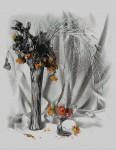 Obras de arte: Europa : Francia : Centre-Francia : www.artmajeur.com/pelvera : Vase.  A table.  Graphics.