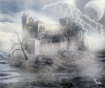 Obras de arte: Europa : España : Castilla_y_León_Segovia : segovia : La  tormenta  en  San Vicente
