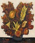Obras de arte: America : Perú : Lima : SanLuis : Girasoles con Flores secas