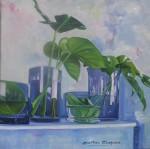 Obras de arte: Europa : España : Andalucía_Málaga : Malaga_ciudad : Tranparencias En Azules