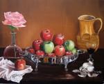 Obras de arte: Europa : España : Andalucía_Sevilla : Pilas : Bodegón con manzanas y ajos