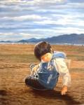 Obras de arte: Europa : España : Andalucía_Sevilla : Pilas : Niño en la playa