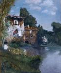 Obras de arte: Europa : España : Andalucía_Sevilla : Pilas : Casona junto al río