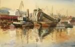 Obras de arte: Europa : España : Euskadi_Bizkaia : Bilbao : La Draga en la Ría