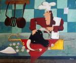 Obras de arte: Europa : España : Andalucía_Huelva : Ayamonte : cocinero torero