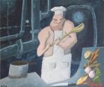 Obras de arte: Europa : España : Andalucía_Huelva : Ayamonte : cocinero de submarino