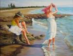 Obras de arte: Europa : España : Comunidad_Valenciana_Castellón : castellon_ciudad : Chicas en la playa de Cabanes