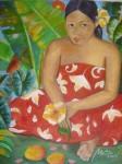 Obras de arte: America : Venezuela : Miranda : Caracas_ciudad : Vaitiare pensativa
