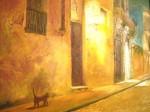Obras de arte: America : Argentina : Buenos_Aires : BELGRANO : ATARDECER EN SAN TELMO