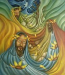 Obras de arte: America : México : Mexico_Distrito-Federal : Coyoacan : REYES MAGOS Y UN CAMINO