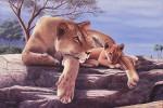 Obras de arte: America : Argentina : Buenos_Aires : Vicente_Lopez : La leona y su cachorro