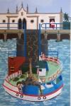 Obras de arte: Europa : España : Andalucía_Huelva : Ayamonte : ferry de portugal(el arca no es)