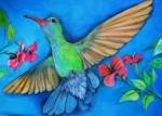 Obras de arte: America : Panamá : Chiriqui : Volcán : busy in blue