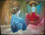 Obras de arte: America : Perú : Lima : San_Borja : geisha mirandose al espejo