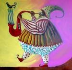 Obras de arte: America : Ecuador : Pichincha : Quito : Músico del sol