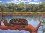 Obras de arte: America : Perú : Amazonas-Peru : Comunidad_de_Puerto_Miguel-_Yarapa : La Matamata-Merlin Canaquiri