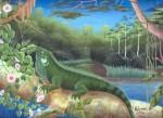 Obras de arte: America : Perú : Amazonas-Peru : Comunidad_de_Puerto_Miguel-_Yarapa : El Camaleon