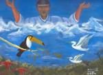 Obras de arte: America : Perú : Amazonas-Peru : Comunidad_de_Puerto_Miguel-_Yarapa : La Creacion de los Pajaros- Steve Ruiz